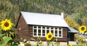 The log cabin school where Ed taught