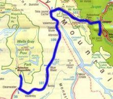 Bear - Wells Gray map