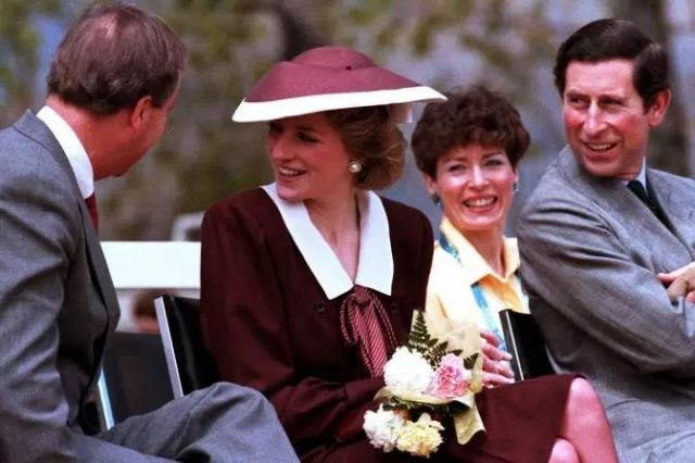 The prince and princess in Kelowna during the 1986 royal tour. (Photo courtesty Canadian Press.)