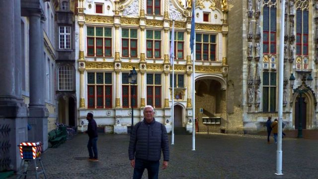 The author in Bruges, Belgium, just before he fell ill.